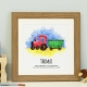 Train personalised framed print